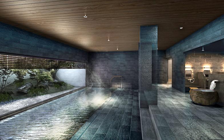 大浴場では箱根から運んだ温泉が楽しめる(写真提供/小田急電鉄)