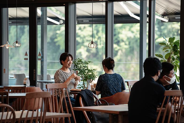 熊本県初出店となる九州パンケーキカフェ。九州の素材を中心に人吉球磨地方の地産地食メニューがそろう(写真提供/タムタムデザイン)