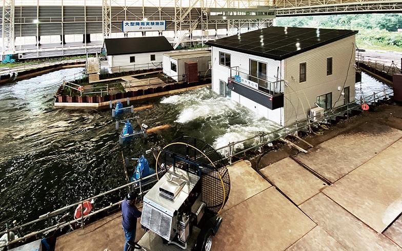 2020年10月に行われた実証実験では水深3mで検証が行われた(写真提供/一条工務店)